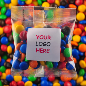 M&M`s - Promotional Bag - Plain Packaging Square Label