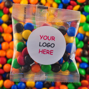 M&M`s - Promotional Bag - Plain Packaging Round Label