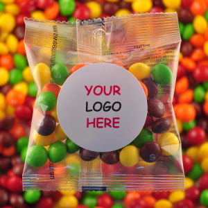 Skittles - Promotional Bag - Plain Packaging Round Label