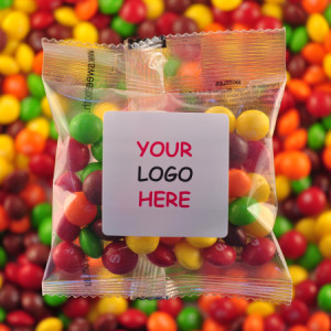 Skittles - Promotional Bag - Plain Packaging Square Label