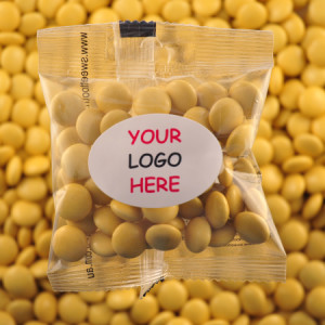 Yellow Chocolate Buttons - Promotional Bag - Plain Packaging Oval Label